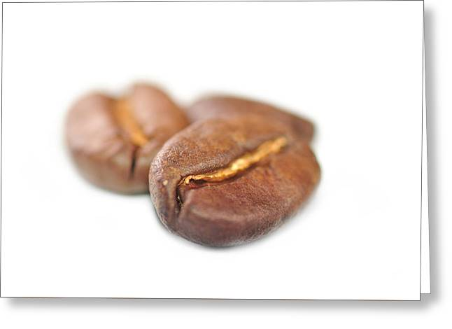 Coffe Greeting Cards - Isolated coffe beans Greeting Card by Martin Capek