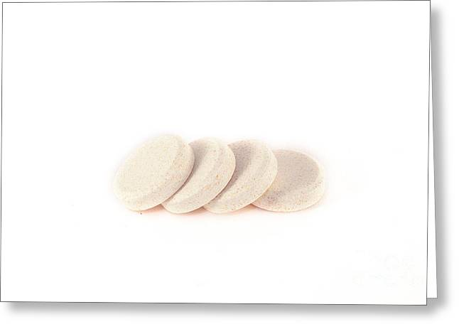 Effervescent Greeting Cards - Isolated effervescent tablets Greeting Card by Daniel Ronneberg