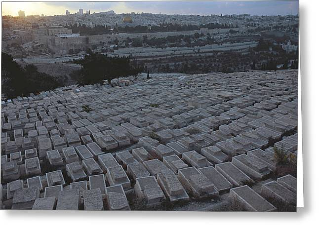 Mount Olives Greeting Cards - Israel, Jerusalem Mount Of Olives Greeting Card by Keenpress