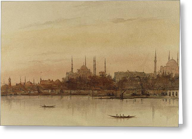 Istanbul Greeting Card by Alfred de Courville