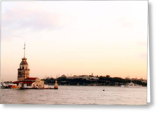 Istanbul Mixed Media Greeting Cards - Istanbul Bay Greeting Card by HQ Photo