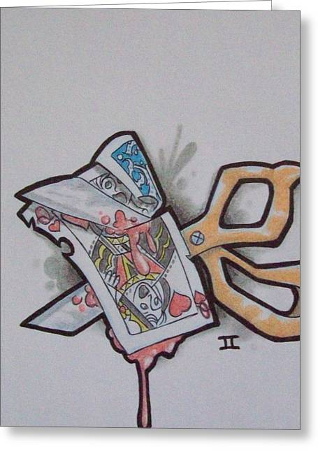 Playing Cards Drawings Greeting Cards - It aint nothing Greeting Card by Joey Smith