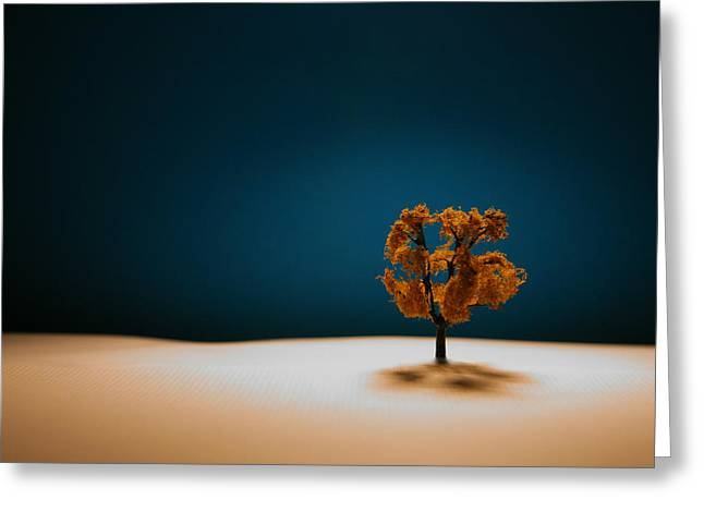 White Blue Greeting Cards - It Is Always There Greeting Card by Mark  Ross