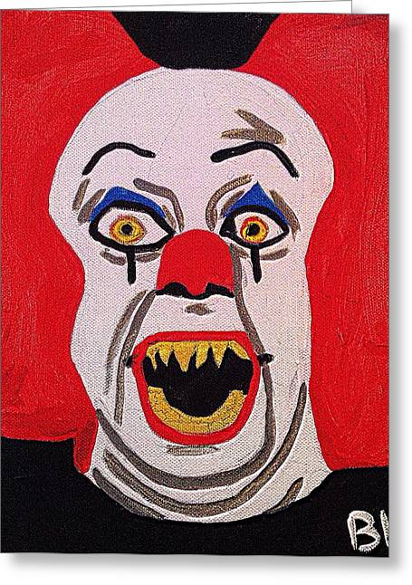 Killer Clown Greeting Cards - It The Killer Clown Greeting Card by Breanna Lewis