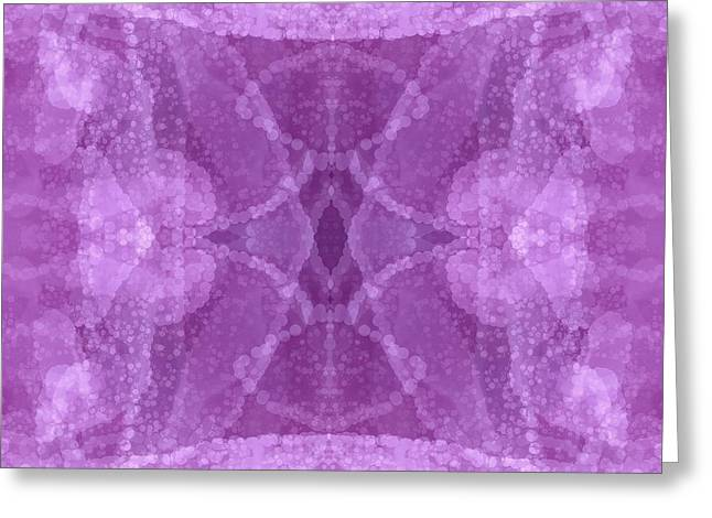 Sacred Tapestries - Textiles Greeting Cards - It Was A Rose Greeting Card by Suzi Freeman