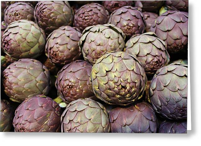 Italian Artichokes Greeting Card by Colleen Kammerer