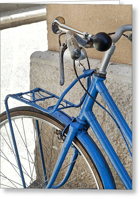 Sicily Greeting Cards - Italian Bike Greeting Card by Robert Lacy
