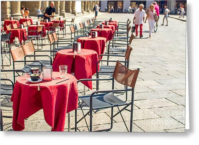 Italian Bistro Canvas - Bologna  Emilia-romagna Prints Greeting Card by Luca Lorenzelli