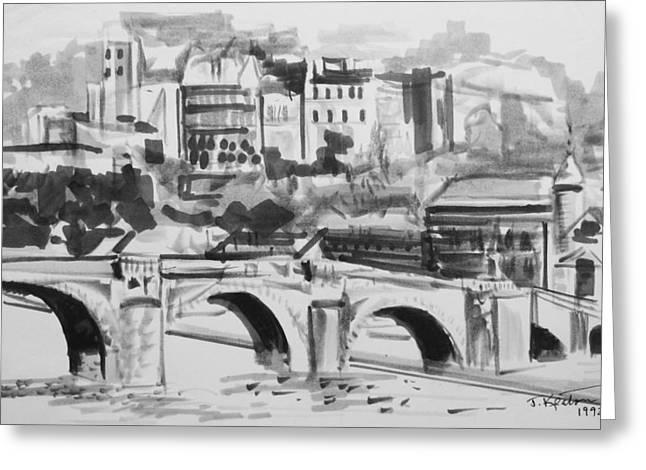 Italian Bridge Greeting Card by John Keaton