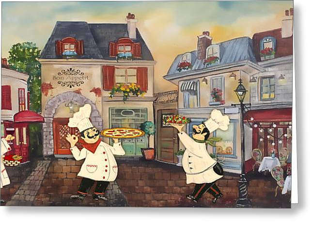 Italian Chefs-jp3041 Greeting Card by Jean Plout