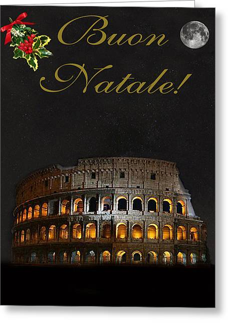 Chapel Mixed Media Greeting Cards - Italian Christmas card Rome Greeting Card by Eric Kempson