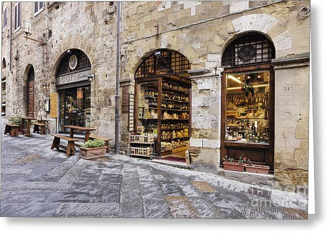 Italian Delicatessen Or Macelleria Greeting Card by Jeremy Woodhouse