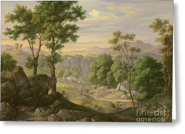 Italian Landscape Greeting Card by Joachim Faber