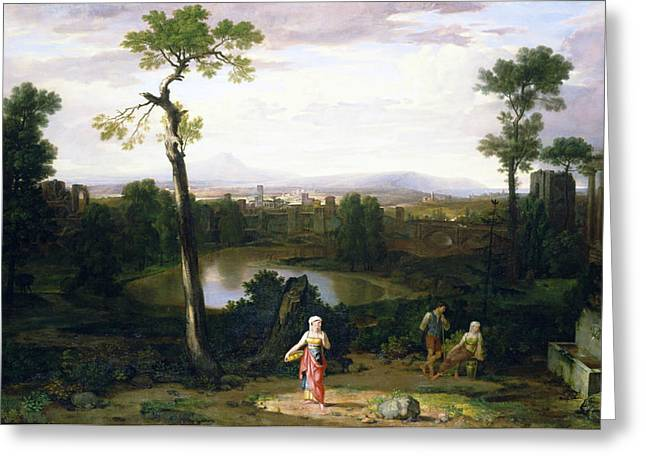 Italian Landscape Greeting Card by Washington Allston