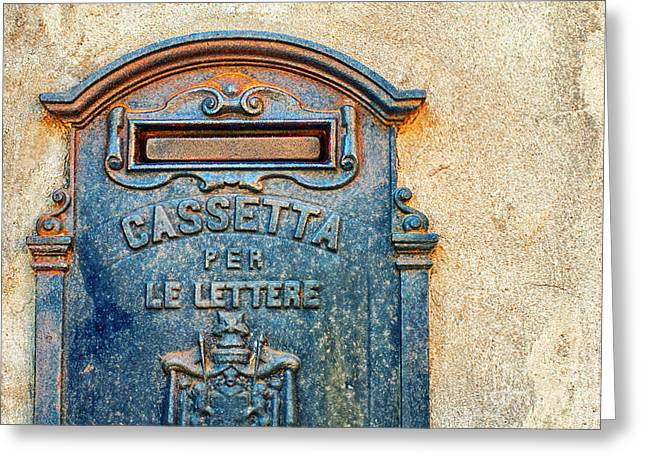 Silvia Ganora Greeting Cards - Italian mailbox Greeting Card by Silvia Ganora