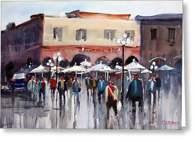 Umbrellas Greeting Cards - Italian Marketplace Greeting Card by Ryan Radke