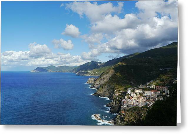 Cinqe Terre Greeting Cards - Italian Memories 11 Greeting Card by Brendan Mulcahy