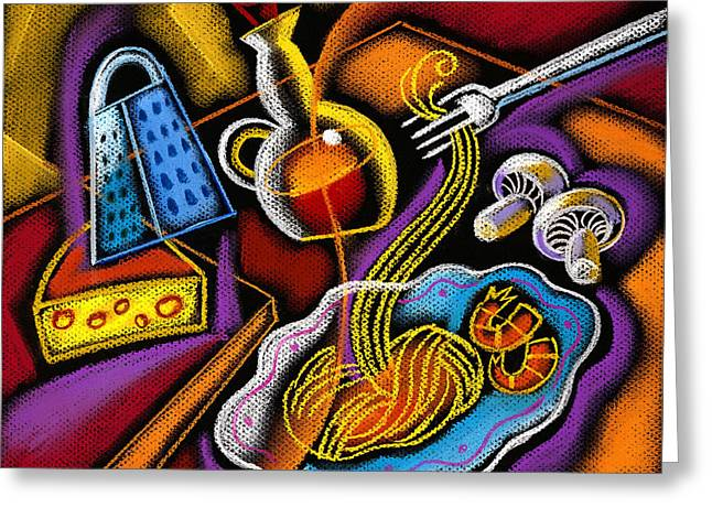 Italian Pasta Greeting Card by Leon Zernitsky