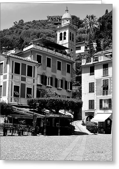 Portofino Cafe Photographs Greeting Cards - Italian Riviera Greeting Card by Corinne Rhode