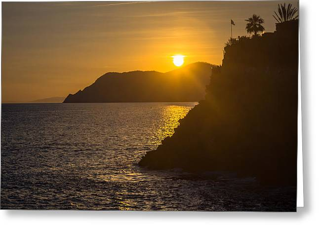 Italian Sunset Greeting Card by Chris Fletcher