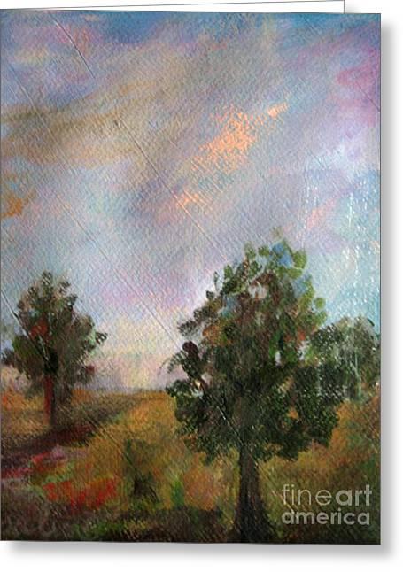 Alberi Greeting Cards - Italian trees Greeting Card by Rosalia  Tignini Verdun