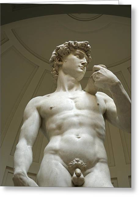 Italy, Florence, Statue Of David Greeting Card by Sisse Brimberg & Cotton Coulson