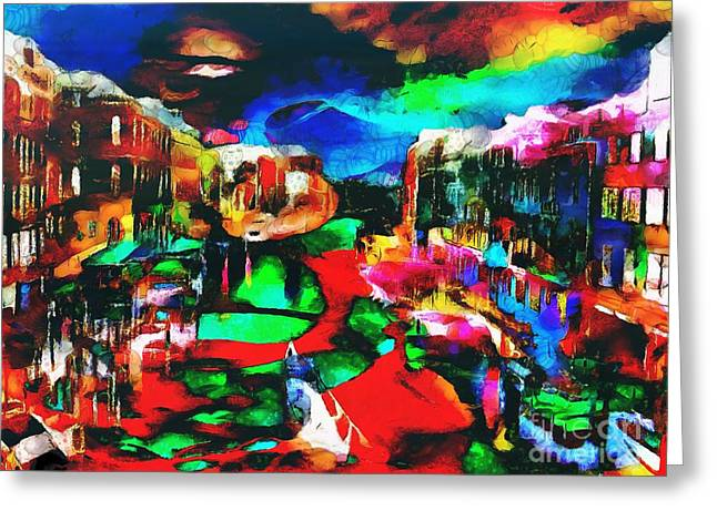 Print On Canvas Greeting Cards - Italy In The Mix Greeting Card by Catherine Lott