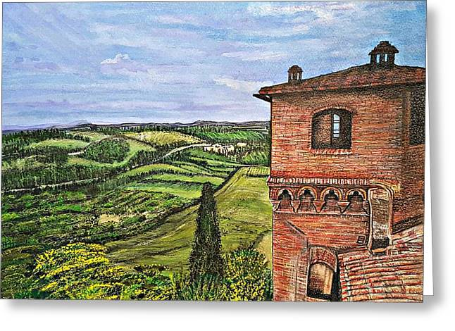 Italy Greeting Card by Jennifer Campbell Brewer