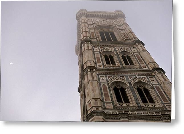 Italian Culture.italian Renaissance Greeting Cards - Italy, Tuscany, Florence, Foggy Greeting Card by Keenpress