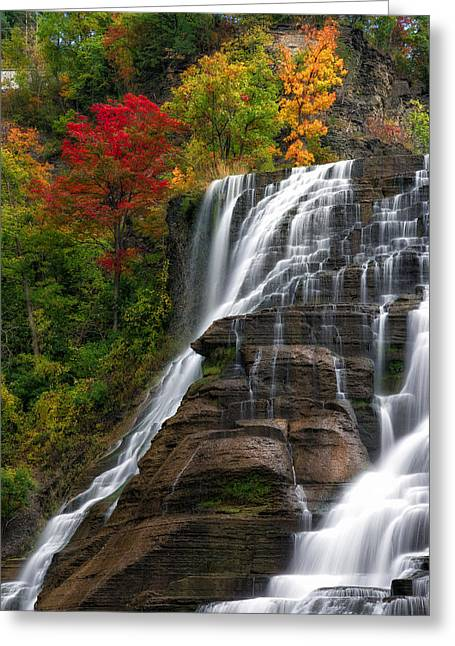 Ithaca Greeting Cards - Ithaca Falls Greeting Card by Mark Papke