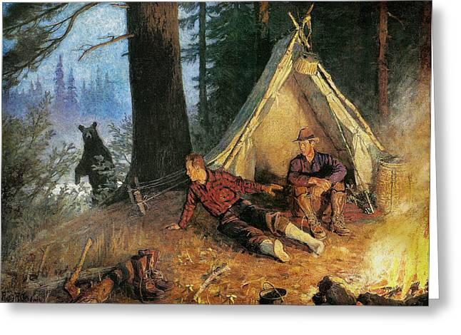 Camping Greeting Cards - Its A Bear Greeting Card by JQ Licensing