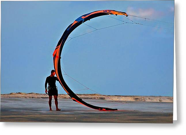 Kite Boarding Greeting Cards - Its a Blast Greeting Card by Laura Ragland