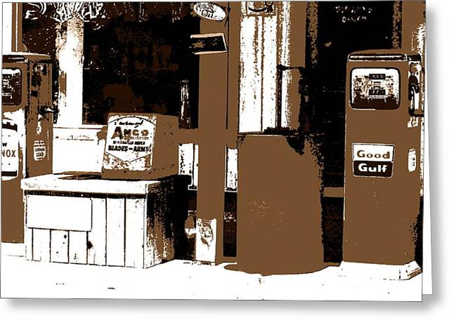 Store Fronts Digital Greeting Cards - Its A Gas Greeting Card by Ed Smith