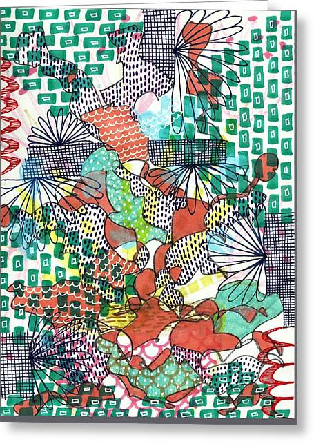It's A Jungle Out There Greeting Card by Lisa Noneman