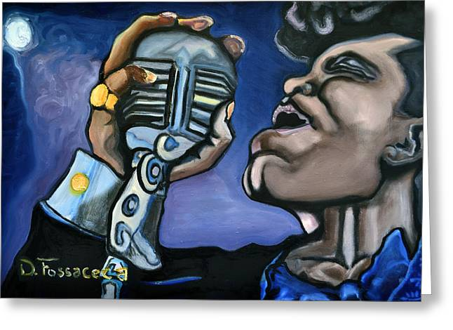 Forties Paintings Greeting Cards - Its A Mans World- James Brown Greeting Card by David Fossaceca