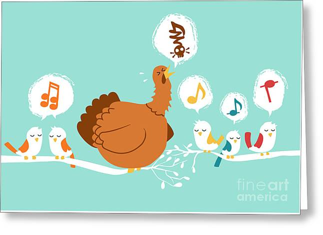 Avian Greeting Cards - Its a sing along Greeting Card by Budi Kwan