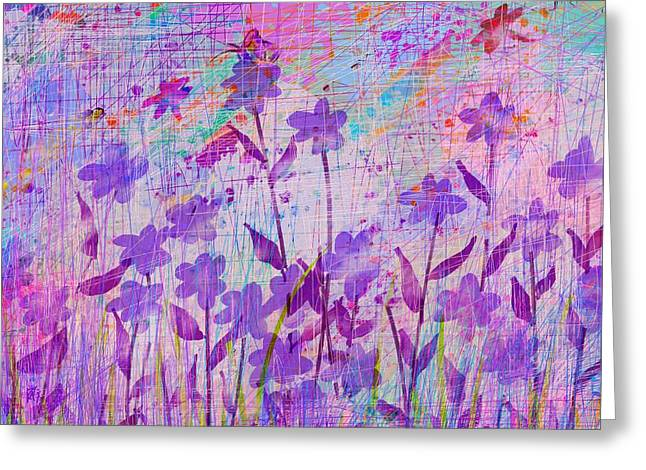 Female Fairy Abstract Greeting Cards - Its a wild world Greeting Card by Rachel Christine Nowicki