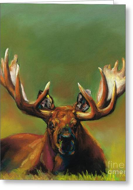 Wild Life Drawings Greeting Cards - Its All About The Rack Greeting Card by Frances Marino