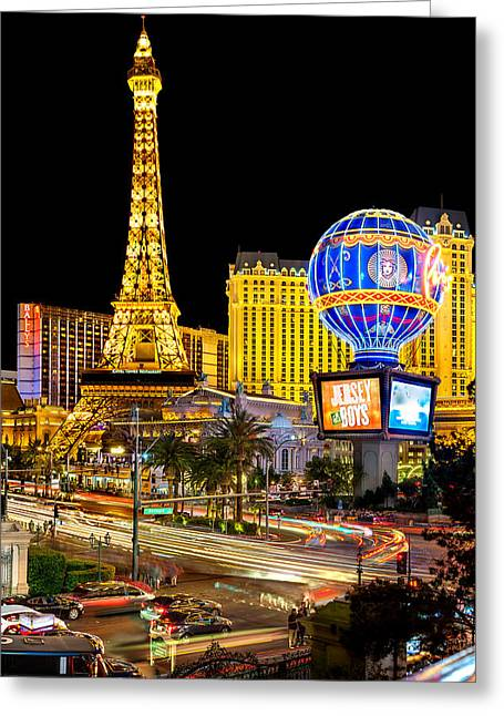 Las Vegas Greeting Cards - Its All Happening Greeting Card by Az Jackson