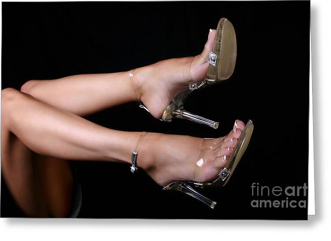 Clear Shoes Greeting Cards - Its Clear Greeting Card by Deelite Photography