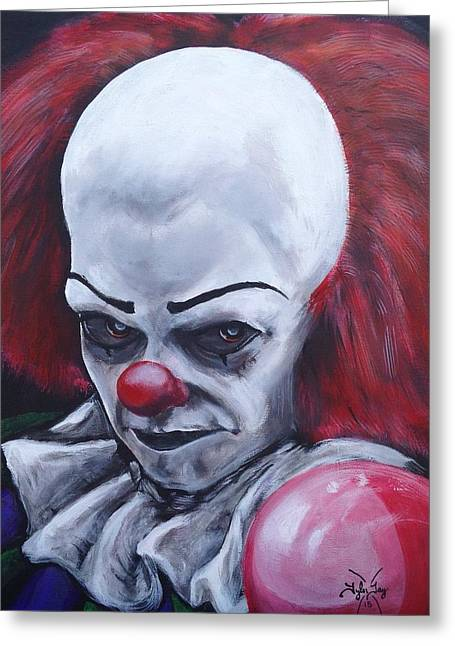 Pennywise Greeting Cards - Its coming Greeting Card by Tyler Haddox