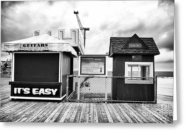 Seaside Heights Greeting Cards - Its Easy Greeting Card by John Rizzuto