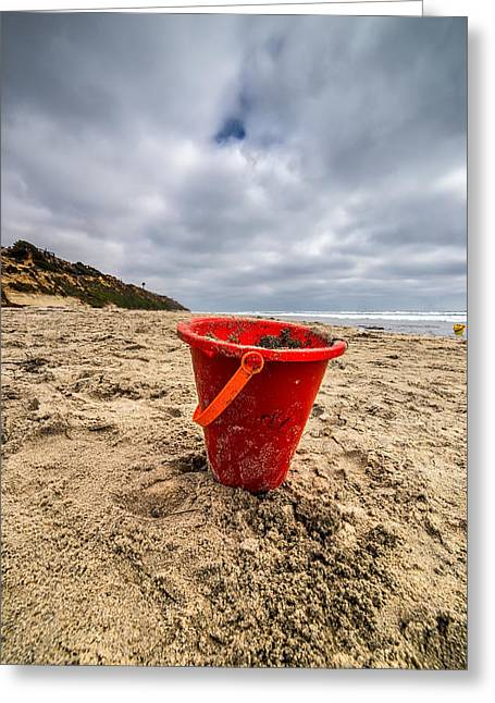 Sand Castles Greeting Cards - Its Good You Went to The Beach You look a Little Pail Greeting Card by Peter Tellone