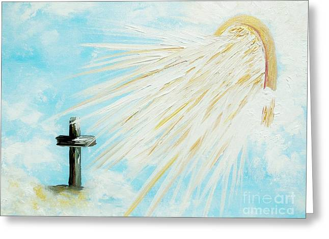 Calvary Greeting Cards - Its Impossible to Outgive God Greeting Card by Eloise Schneider