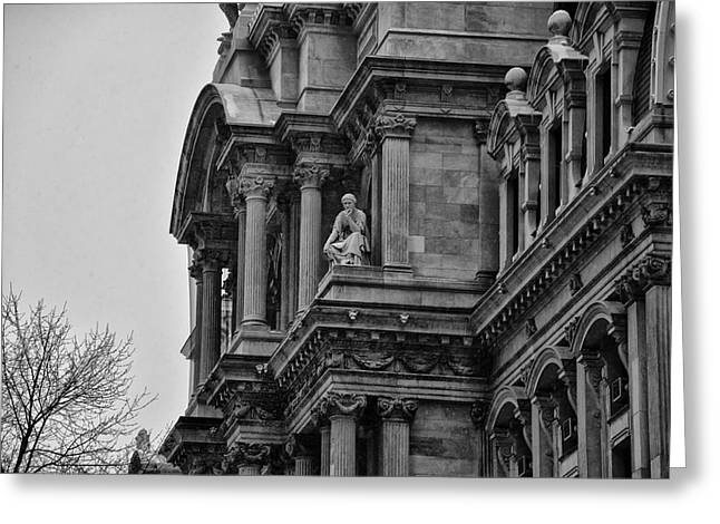 Philadelphia City Hall Greeting Cards - Its in the Details - Philadelphia City Hall Greeting Card by Bill Cannon