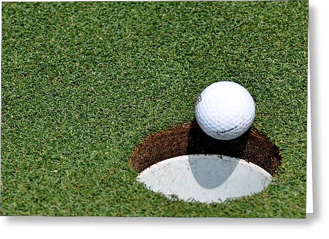 Golf Hole Greeting Cards - Its In The Hole Greeting Card by Shawn Wood