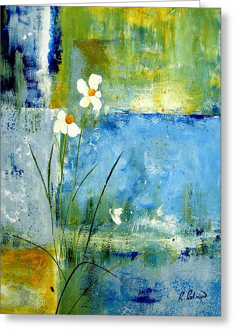 Texture Floral Paintings Greeting Cards - Its Just You And Me Greeting Card by Ruth Palmer
