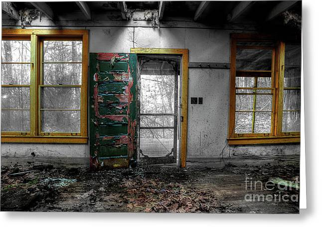 Abandoned Homes Greeting Cards - Its Never Easy To Say Goodbye Greeting Card by Michael Eingle