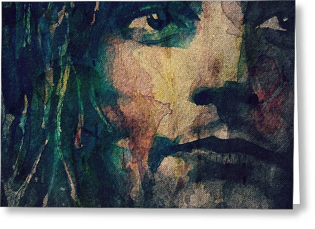 British Portraits Greeting Cards - Its Not The Spot Light Greeting Card by Paul Lovering