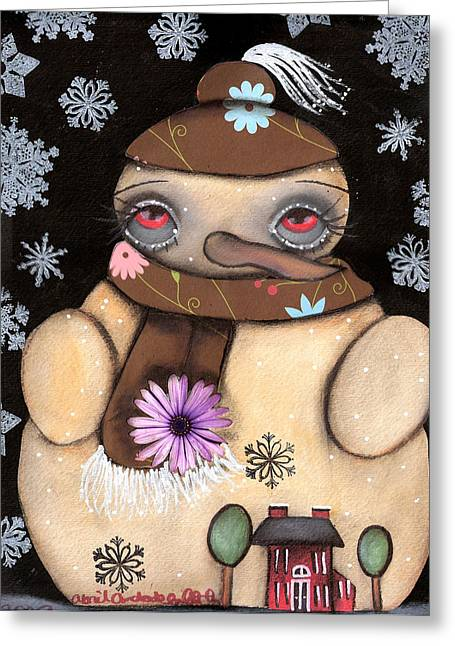 Paiting Greeting Cards - Its snowing Greeting Card by  Abril Andrade Griffith